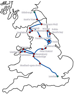 London to Edinburgh Adventure 8 Day Tour
